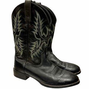 Ariat Heritage Stockman Cowboy Boots Black